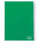 Kunststoffregister 6200-05 A-Z A4 0,12mm grüne Fenstertaben zum wechseln 20-teilig