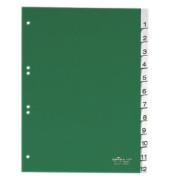Register 6210 1-12 Fenstertabe grün A4 1-12 volle H.