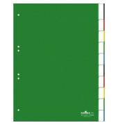 Register 6221 blanko Fenstertabe blanko grün A4 10-tlg. volle H.