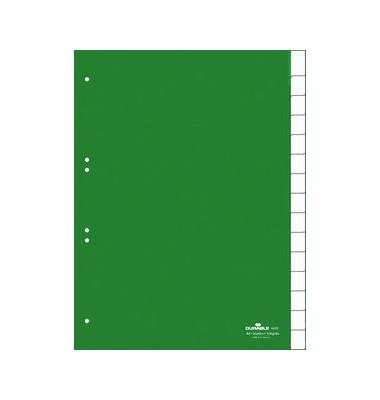 Kunststoffregister 6222-05 blanko A4 0,12mm grüne Fenstertaben zum wechseln 15-teilig