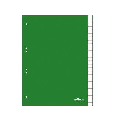 Kunststoffregister 6224-05 blanko A4 0,12mm grüne Fenstertaben zum wechseln 25-teilig