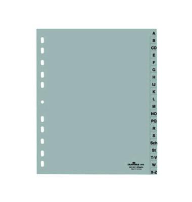Kunststoffregister 6520-10 A-Z A4+ 0,12mm graue Taben 20-teilig