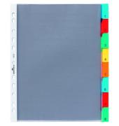 Register 6631 blanko m.Farbstreif. Fenstertabe A4 8-tlg Hüllenregister