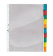 Kunststoff-Hüllenregister 6632-19 blanko A4+ farbige Fenstertabe zum wechseln 10-teilig