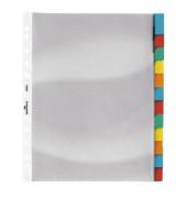 Kunststoff-Hüllenregister 6633-19 blanko A4+ farbige Fenstertabe zum wechseln 12-teilig