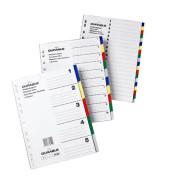 Kunststoffregister 6730-27 blanko A4 0,12mm farbige Taben 5-teilig