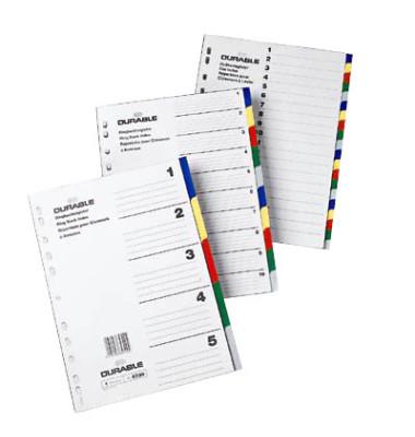 Register 6730 blanko 5-tlg. 5-farbig A4 blanco