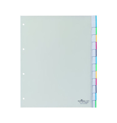 Register 6831 blanko Fenstertabe blanko transp. A4 10tlg. überbreit