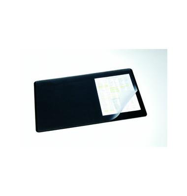 Schreibunterlage m. Sichtfolie schwarz 40 x 60 cm Kunst.