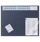 Schreibunterlage 65 x 52cm mit Sichtfolie blau
