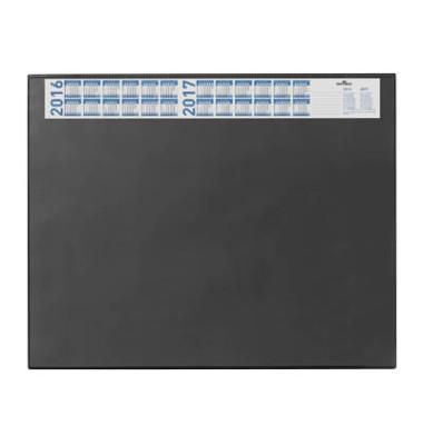 Schreibunterlage 7204-01 mit Kalenderstreifen schwarz 65x52cm Kunststoff