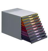 Schubladenbox Varicolor 7610-27 grau/bunt 10 Schubladen geschlossen