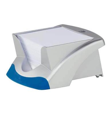 Zettelbox VEGAS 153 x 70 x 116mm silbermetallic Inhalt 90 x 90mm weiß 500 Blatt