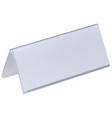 Tisch-Namensschilder Dachform transp. 63 x 150mm