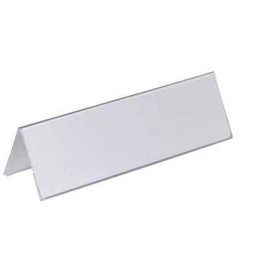 Tisch Namensschilder Dachform 105 x 297mm 25 Stück transparent