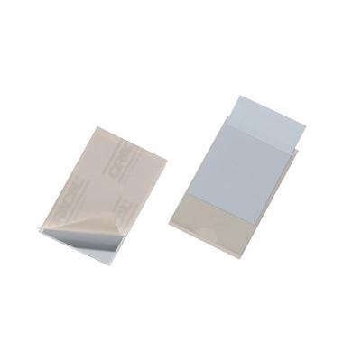 8079 Pocketfix Klebetaschen 57x90mm transparent 10 Stück