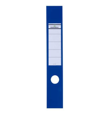 ORDOFIX 8090-06 60 x 390 mm blau Rückenschilder selbstklebend & einsteckbar 10 Stück