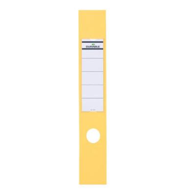 ORDOFIX 8090-04 60 x 390 mm gelb Rückenschilder selbstklebend & einsteckbar 10 Stück