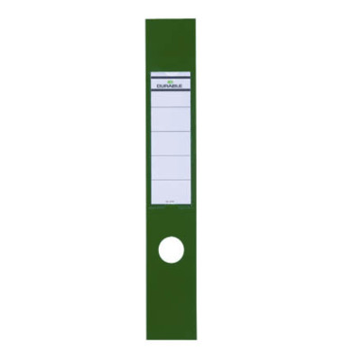 ORDOFIX 8090-05 60 x 390 mm grün Rückenschilder selbstklebend & einsteckbar 10 Stück