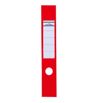 ORDOFIX 8090-03 60 x 390 mm rot Rückenschilder selbstklebend & einsteckbar 10 Stück