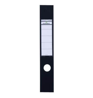 ORDOFIX 8090-01 60 x 390 mm schwarz Rückenschilder selbstklebend & einsteckbar 10 Stück