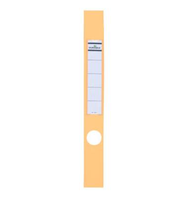 ORDOFIX 8091-04 40 x 390 mm gelb Rückenschilder selbstklebend & einsteckbar 10 Stück
