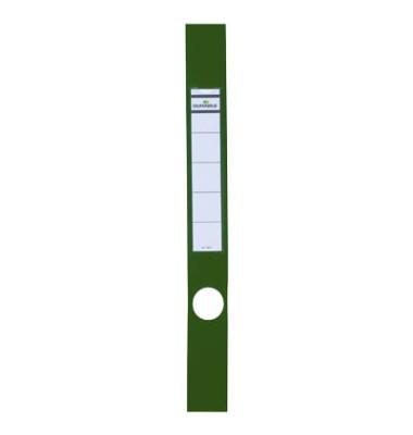 ORDOFIX 8091-05 40 x 390 mm grün Rückenschilder selbstklebend & einsteckbar 10 Stück