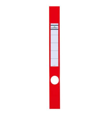 ORDOFIX 8091-03 40 x 390 mm rot Rückenschilder selbstklebend & einsteckbar 10 Stück