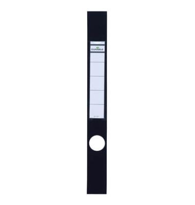 ORDOFIX 8091-01 40 x 390 mm schwarz Rückenschilder selbstklebend & einsteckbar 10 Stück