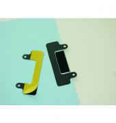 Abheftstreifen Duraclip 8098-01, 48x120mm, selbstklebend, Kunststoff, schwarz, 10 Stück