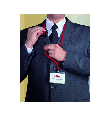Textilband für Namensschilder rot 10mmx44cm 10 St