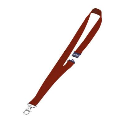 Textilband f.Namenssch.m.Haken rot 20x810mm 10 St