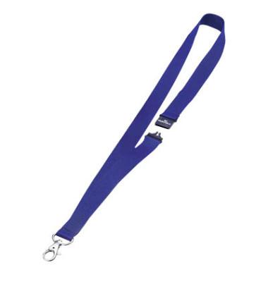 Textilband f.Namenssch.m.Haken dkl.blau BxL 20x810mm 10 St