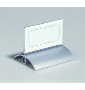 Tisch-Namensschild Acryl/Alu transp. 52x100mm 2 St