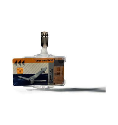 Doppelbox mit Ausweishalter transp. 54x85mm 25 St