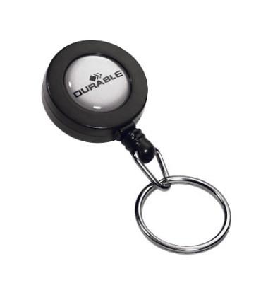Ausweishalter mit Schlüsselring anthrazit 10 Stück