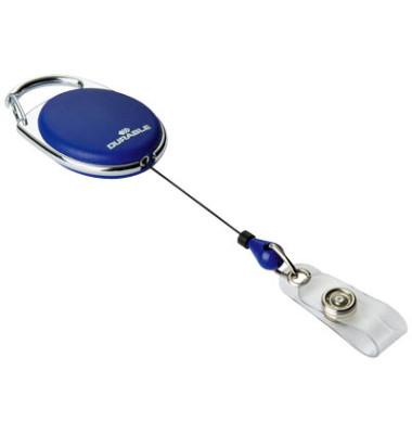 Ausweishalter JoJo Style m.Druckkn d.blau Schlaufe 10 St