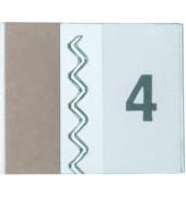 Sichtreiter Tabfix 10mm farblos 2 zeilig 5 Stück
