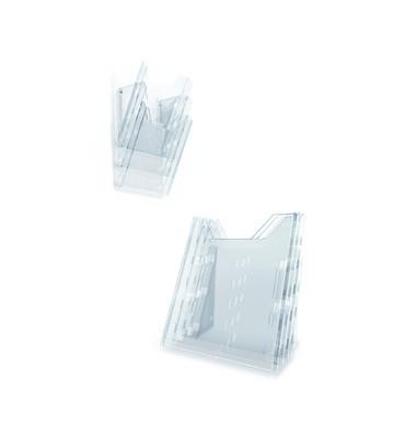 Prospektspender-Set Combiboxx L Tisch/Wand 3 Fächer A4 transparent