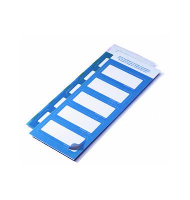 Namensschild Etiketten Textil blau 30 x 60mm 50 Stück