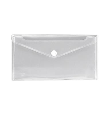 Dokumententasche Crystal Din Lang farblos/transparent