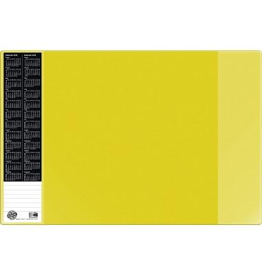 Scheibunterlage VELOCOLOR gelb mit seitlichen Taschen, 40x60
