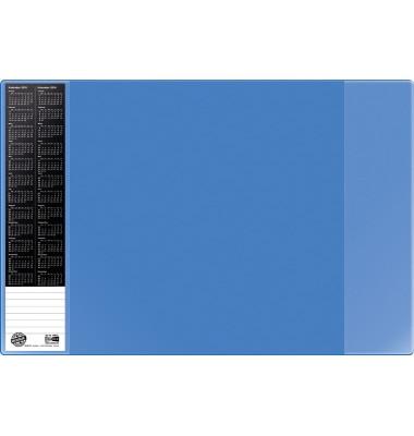 Scheibunterlage VELOCOLOR blau mit seitlichen Taschen, 40x60