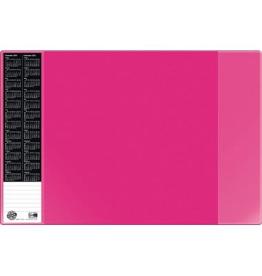 Scheibunterlage VELOCOLOR pink mit seitlichen Taschen, 40x60
