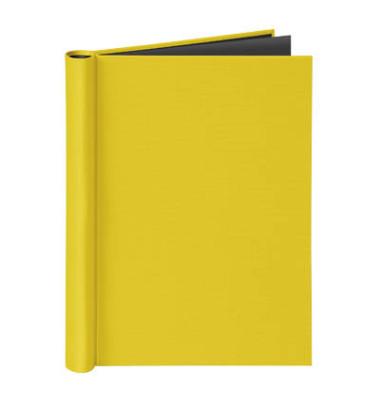 Klemmbinder A4 für ungel. Schriftgut Füllhöhe 20 mm max. 150 Blatt, gelb.