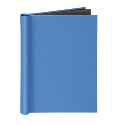 Klemmbinder A4 für ungel. Schriftgut Füllhöhe 20 mm max. 150 Blatt, blau.