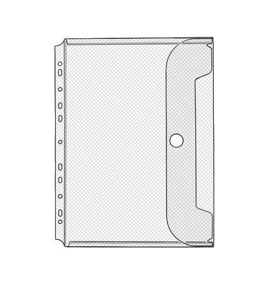 Prospekthüllen Jumbo Crystal A4 transparent genarbt 200my rechts offen mit Klappe