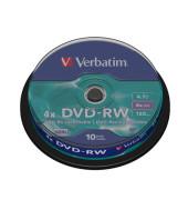 DVD Rohling -RW, 4,7 GB 4-fach, 10er Spindel