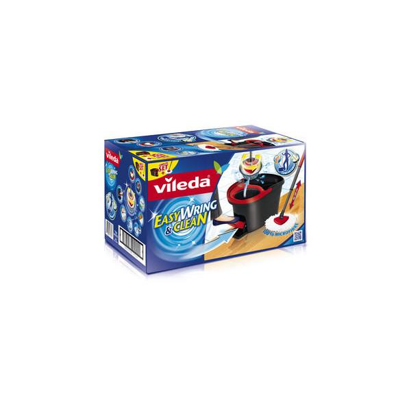 Vileda Easy Wring&Clean Wischmop rot/grau 496x306x298 Set