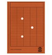 Umlaufmappe 80200 A4 250g Karton orange mit 3 Sichtlöchern
